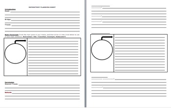NEW-MODIFIED Expository Planning Sheet & BLANK Organizer for STAAR