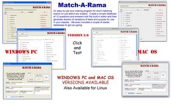 NEW Mac OS Match-A-Rama Test Maker