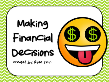 NEW  Making Financial Decisions (aligned to TEKS 3.9F)
