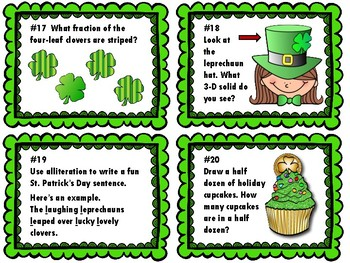 NEW  March Task Cards (Reading, Math, and Writing tasks included)