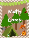NEW  Welcome to Math Camp! Get ready 5th Grade Math Test Prep!