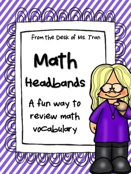 NEW  Math Headbands GREAT VOCABULARY REVIEW GAME!
