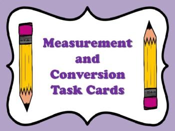 NEW  Measurement & Conversion Task Cards (TEKS 4.8A,4.8B,4