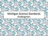 NEW! Michigan Kindergarten Science Standards (2015) Posters