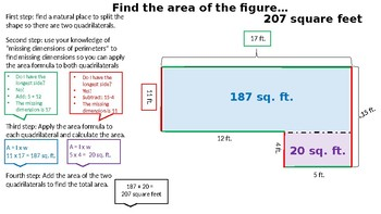 NEW! Missing Dimensions Area and Perimeter Power Point 5.4H 4.MD.A.3
