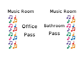 Music Room Hall Passes