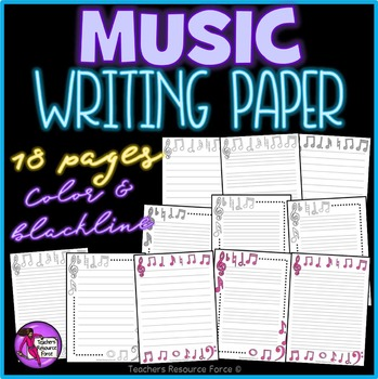 Music Themed Writing Paper