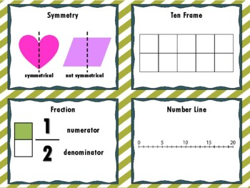 NEW  My Math Helper Ring MINI ANCHOR CHART MATH TOOL for 3rd-6th Grade
