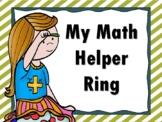 My Math Helper Ring MINI ANCHOR CHART MATH TOOL for 3rd-6th Grade