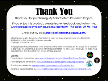 NEW  My Solar System Research Project NO PREP!