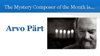 NEW! Mystery Composer of the Month - Arvo Part
