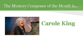 Mystery Composer of the Month - Carole King