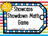NEW! NO PREP Showcase Showdown Math Center, Game, Activity for 4th 5th graders
