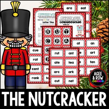 Nutcracker Word Builder, Spelling, Christmas Activities, Winter, December