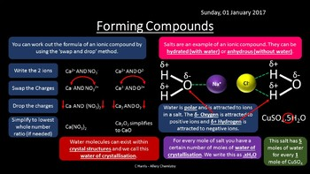 NEW OCR A Yr1 2.1.2/3 Amount of Substance, Compounds, Formulae and Equations