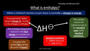NEW OCR A Yr1 3.2.1 Enthalpy Changes Revision