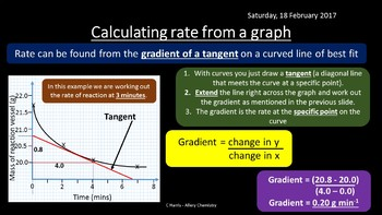 NEW OCR A Yr1 3.2.2 Reaction rates Revision