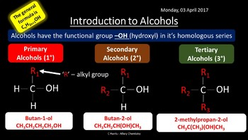 NEW OCR A Yr1 4.2.1 Alcohols Revision