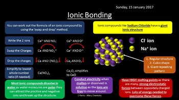NEW OCR B (Salters) EL - Bonding and Structure Revision