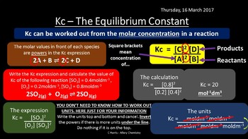 NEW OCR B (Salters) ES - Equilibria revision