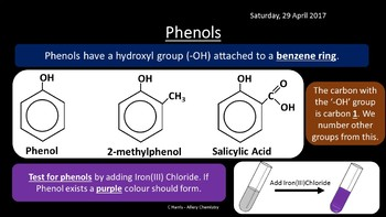 NEW OCR B (Salters) WM - Alcohols, Phenols and Functional Groups revision
