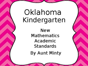 UPDATED Oklahoma Kindergarten Math, Language Academic Standards 2017-2018