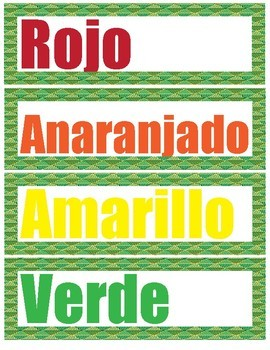 NEW! Over 400 SPANISH Art Room Vocabulary Word Wall Words