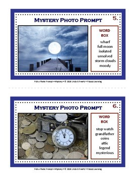 NEW! PICK A PHOTO PROMPT • 60 Writing Ideas with Word Boxes • Grades 4–6