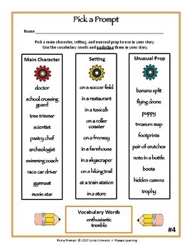 PICK A PROMPT • GRADES 5–8 • Fun for Early Finishers!