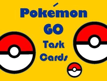 NEW  Pokemon GO Math Task Cards (4th-6th)