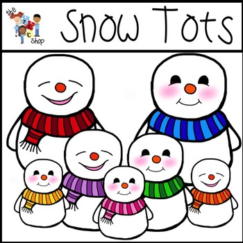 Snow Tots Clipart Set