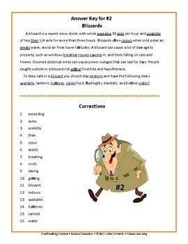 PROOFREADING PRACTICE: NATURAL DISASTERS • GRADES 4-6