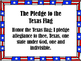 **FREEBIE**  Pledge of Allegiance POST IT, READ IT, AND WRITE IT!