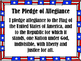 **FREEBIE**  Pledge of Allegiance POST IT, READ IT, AND WRITE IT!