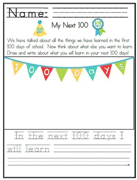 "Primary Theme - ""100 Days"" for the 100th Day of School"
