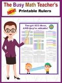 NEW! Printable Rulers BUNDLE! Completely Editable