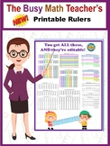 Printable Rulers BUNDLE! Inch AND Centimeters