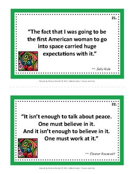 QUOTES BY FAMOUS WOMEN • GRADES 4–8