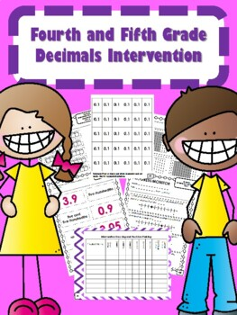 NEW  4th & 5th Grade Decimals Intervention (31 DAYS) READY TO GO!