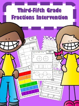 NEW  3rd-5th Grade Fractions Intervention (27 DAYS) READY TO GO!