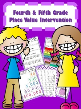 NEW  4th & 5th Grade Place Value Intervention (22 DAYS) READY TO GO!