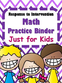 NEW RTI Math Practice Binder Just for Kids Gr. 4-6 GREAT F