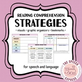 NEW! Reading Comprehension Strategies & Bookmarks for Speech and Language