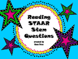 NEW Reading STAAR Stem Questions PERFECT FOR 5th-8th graders!