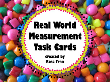 DIFFERENTIATED Real World Measurement Cards (TEKS 4.8A,4.8B,4.8C & CC 4.MD.A.1)