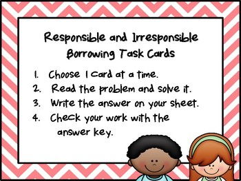 NEW  Responsible and Irresponsible Borrowing (TEKS 2.11D FINANCIAL LITERACY)