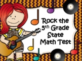 NEW  Rock the 5th Grade Math STAAR Test 60 TASK CARDS AND GAME BOARD!