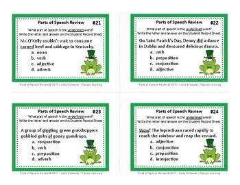 SAINT PATRICK'S DAY PARTS OF SPEECH REVIEW • Grades 3–5