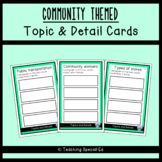 Community Themed Topic and Detail Cards