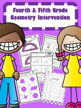*SAMPLE ONLY* NEW READY TO GO 4th & 5th Grade Geometry Intervention (39 DAYS)